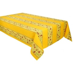 Honey Yellow French Provincial Tablecloth-Rectangle