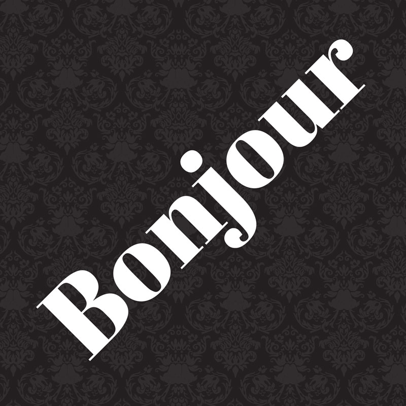 Bonjour Greeting Cards