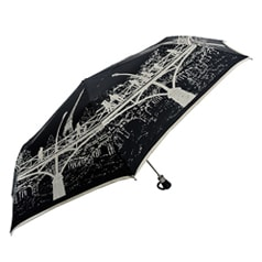 Pont des Art Bridge Folding Black Umbrella