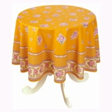 Safran Yellow French Provincial Tablecloth-Round