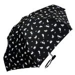 Playful Cats Mini Umbrellas-Black