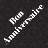 Bon Anniversaire French Card