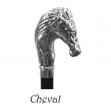Guy de Jean Umbrella Nickel Horse Head Handle
