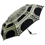 Guy De Jean-Eiffel Tower Folding Umbrella-Black