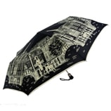 Paris City Walk Folding Black Umbrella