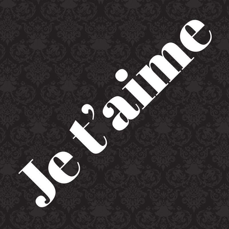 Je t'aime French Card