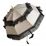 Pompadour Luxury Umbrella with Dog Head Handle