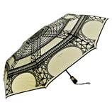 Guy De Jean-Eiffel Tower Folding Umbrella-Cream