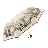 Paris City Walk Folding Cream Umbrella