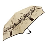 Pont des Art Bridge Folding Cream Umbrella