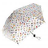 Mini White Umbrella with Butterflies